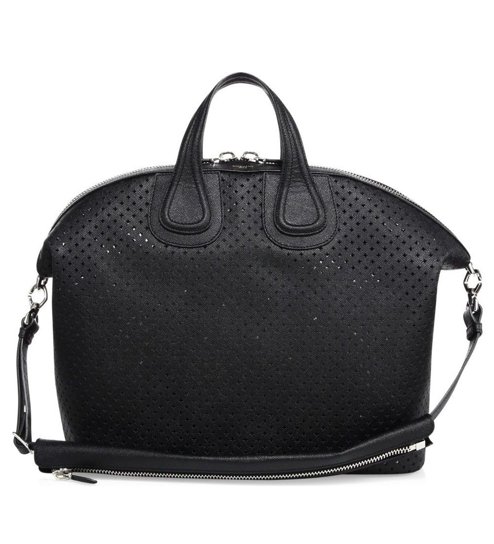 c5f71ac1f6 Givenchy Nightingale Perforated Leather Bag Black  259.00