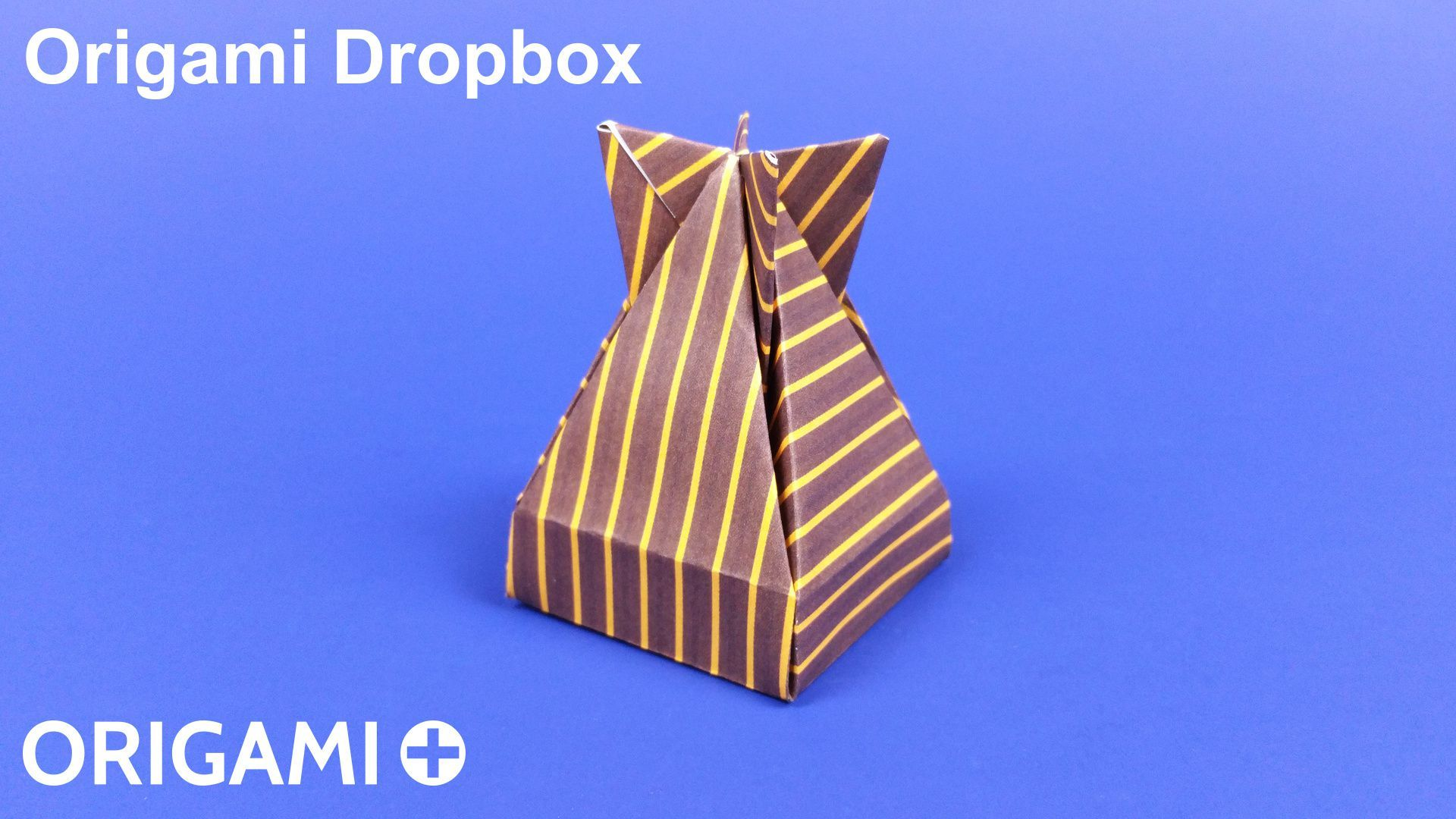 How To Make An Origami Dropbox A Cool Paper Gift Box Designed By Crane Diagram Jos Meeusen Step Instructions With Photos And
