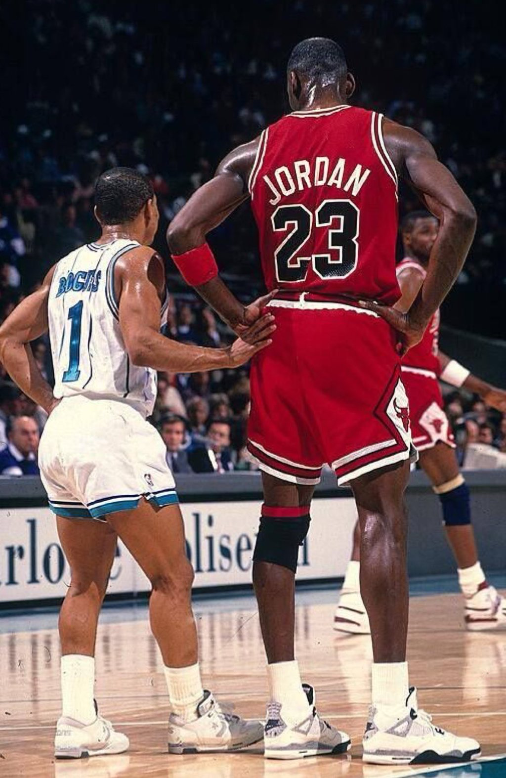 Michael Jordan & Muggsy Bogues MJ