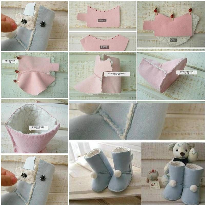 a6a3612743e How to design and sew Kids Ugg Boots step by step DIY tutorial ...