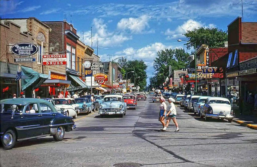 Four Fun Friday Fifties And Sixties Kodachrome Car Images The Old Motor Street Scenes Usa Street Photo