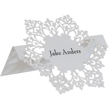 SnowFlake Place Card Holders