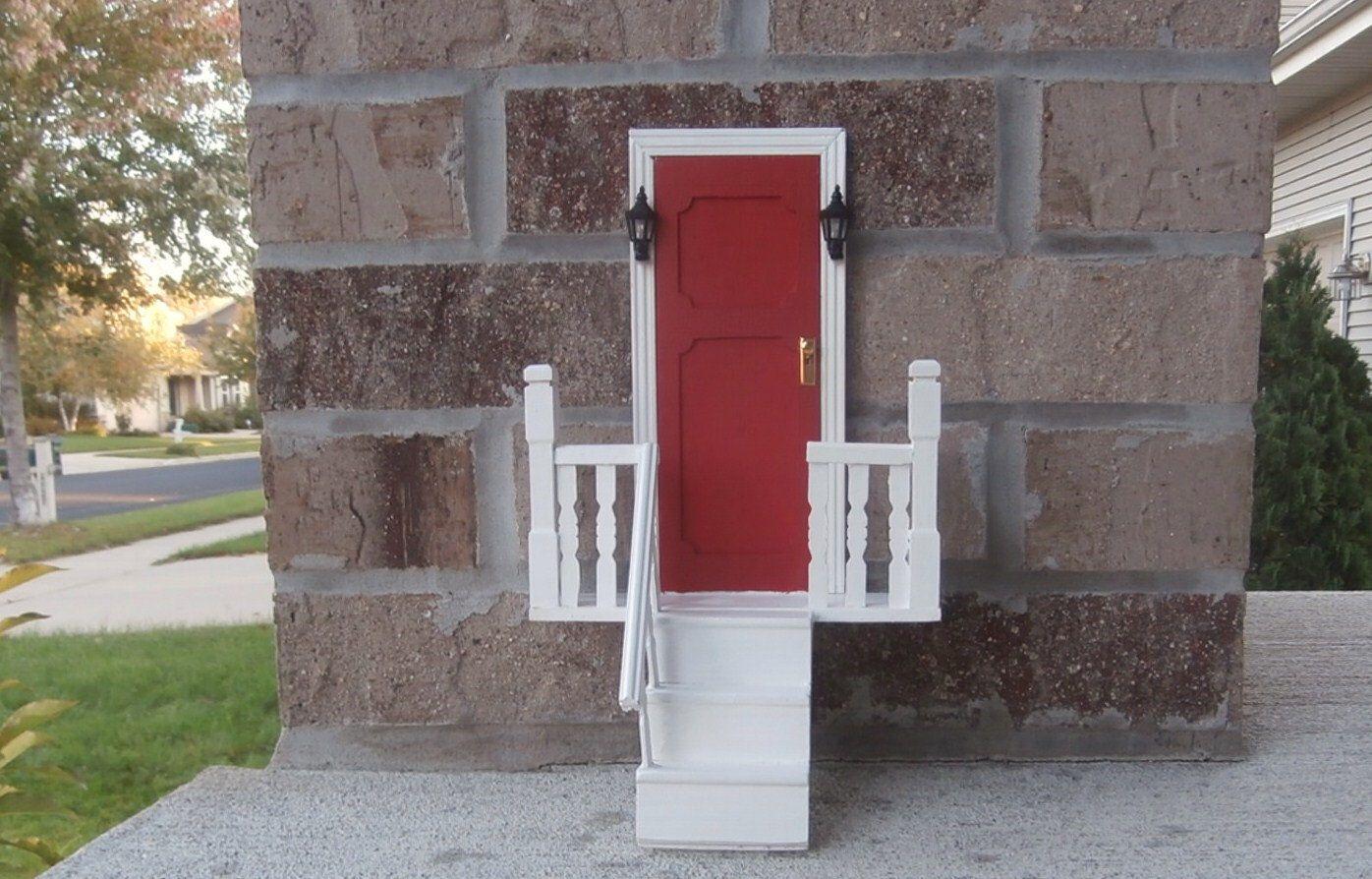 Red Fairy Door With Stairs Tooth Fairy Door Pinterest Fairy