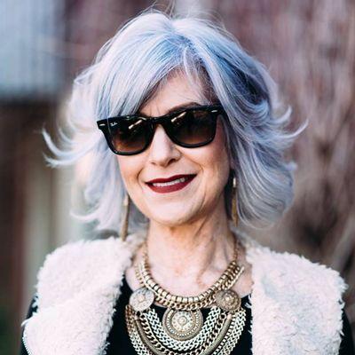 Under Maintenance Gray Hair Highlights Silver Blue Hair Hair Color For Women