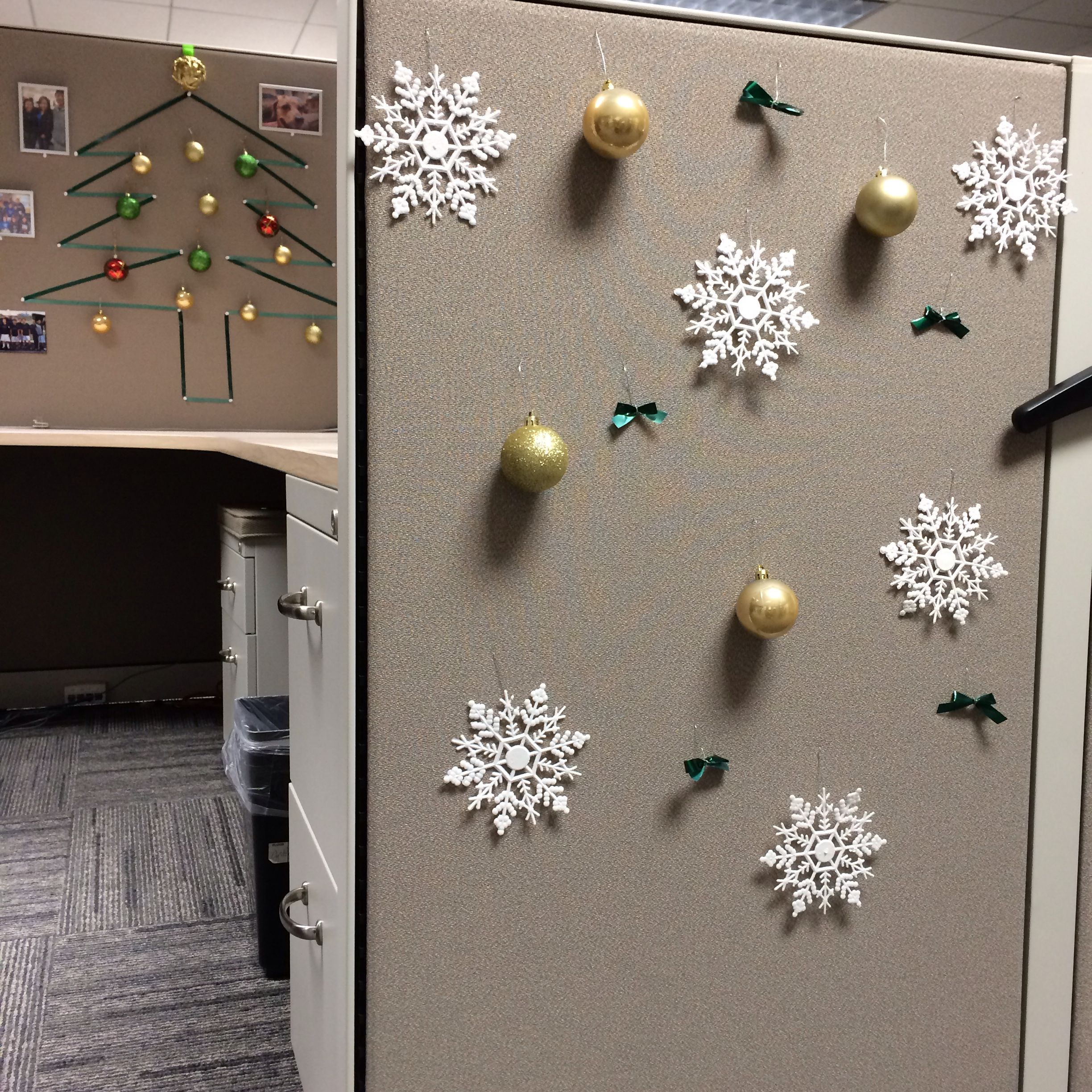 Christmas cubicle decoration my very first