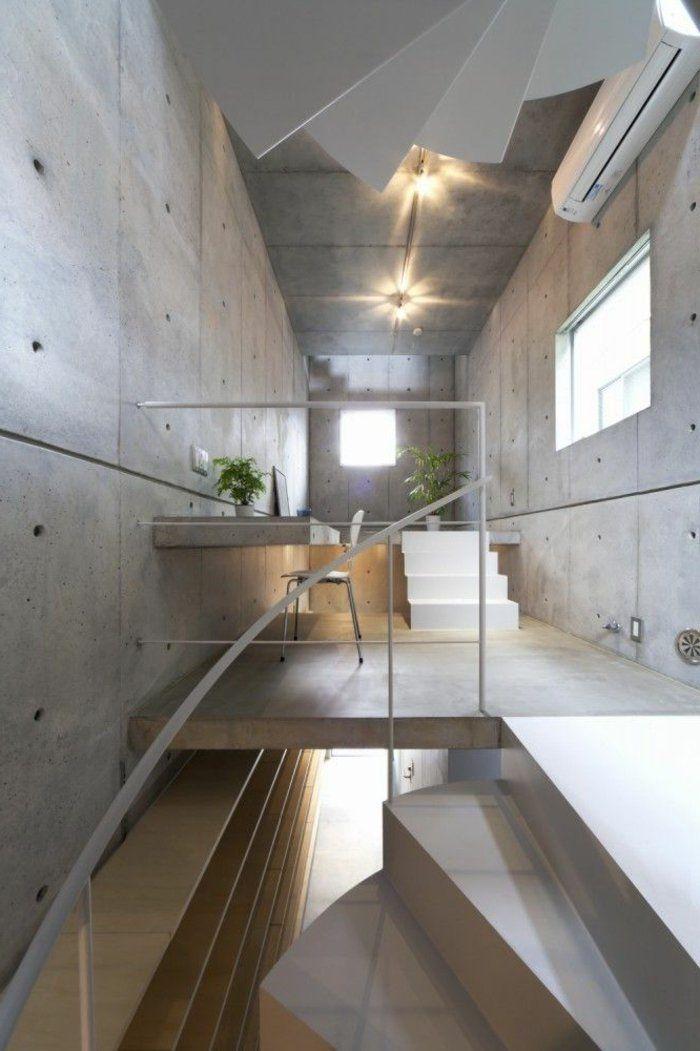 design d 39 int rieur styl avec le tableau triptyque rampe escalier escalier. Black Bedroom Furniture Sets. Home Design Ideas