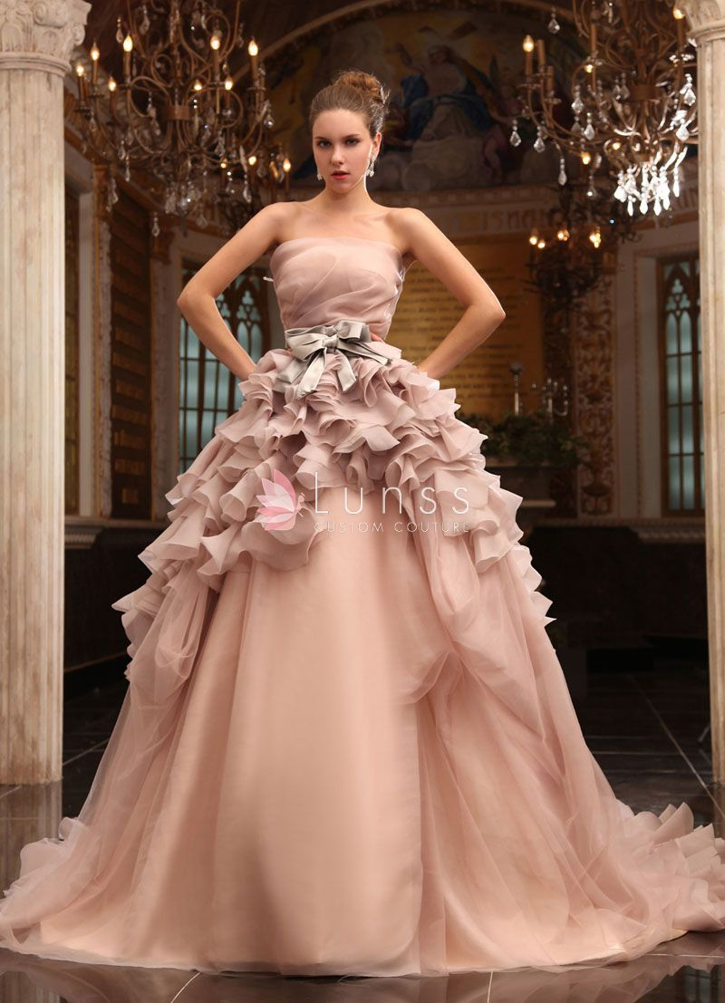 Strapless ball gown wedding dresses  Ball Gown Bridesmaid Dresses  Wedding ideas  Pinterest  Ball