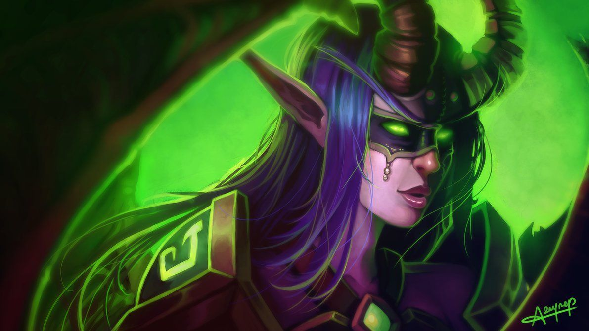 Wow legion demon hunter wallpaper by atraelegie for Demon hunter