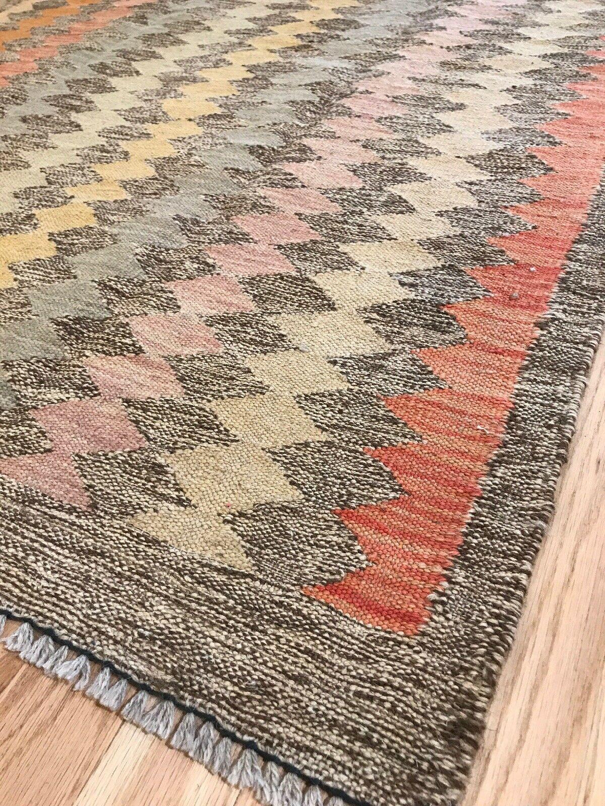 Vintage Tribal Veg dye Hand-Made Kilim Area Rug 3.24.8 WHOLESALE #05 $98.00  - Vintage Rugs - Ideas of Vintage Rugs #VintageRugs