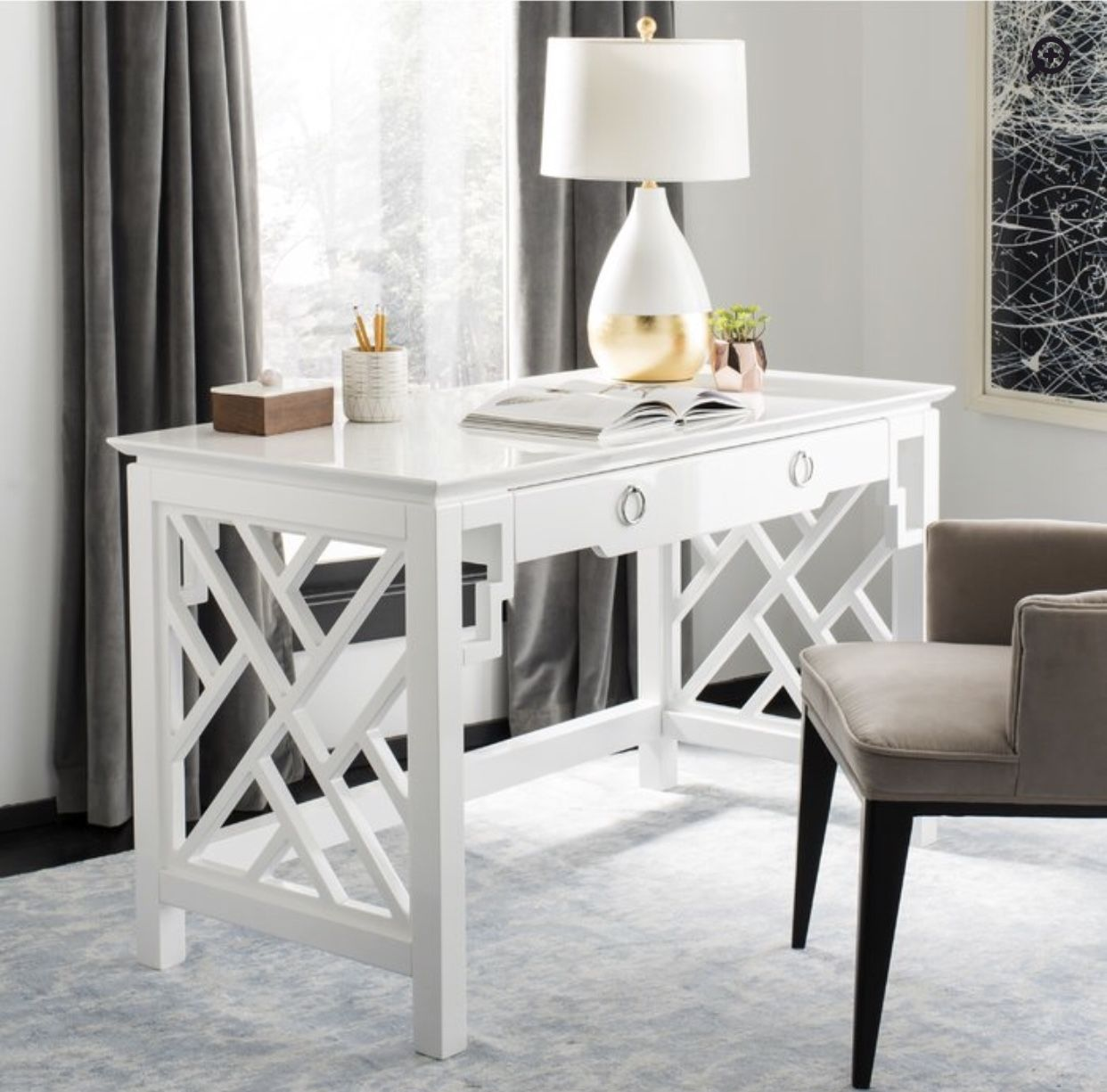 Pin by KC on Home and Garden White desk bedroom, Desk
