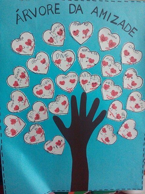 Arvore Da Amizade Dia Do Amigo Educacao Infantil Atividades