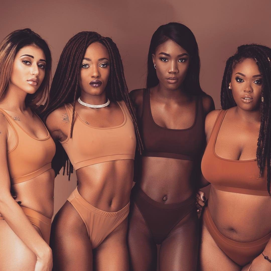157473b411 Melanin overflow ✨😍 🍫 what's your shade of nude? . . . . #swimwear # swimming #melanin #summer #beach #darkskin #bathingsuit #bikini #models…