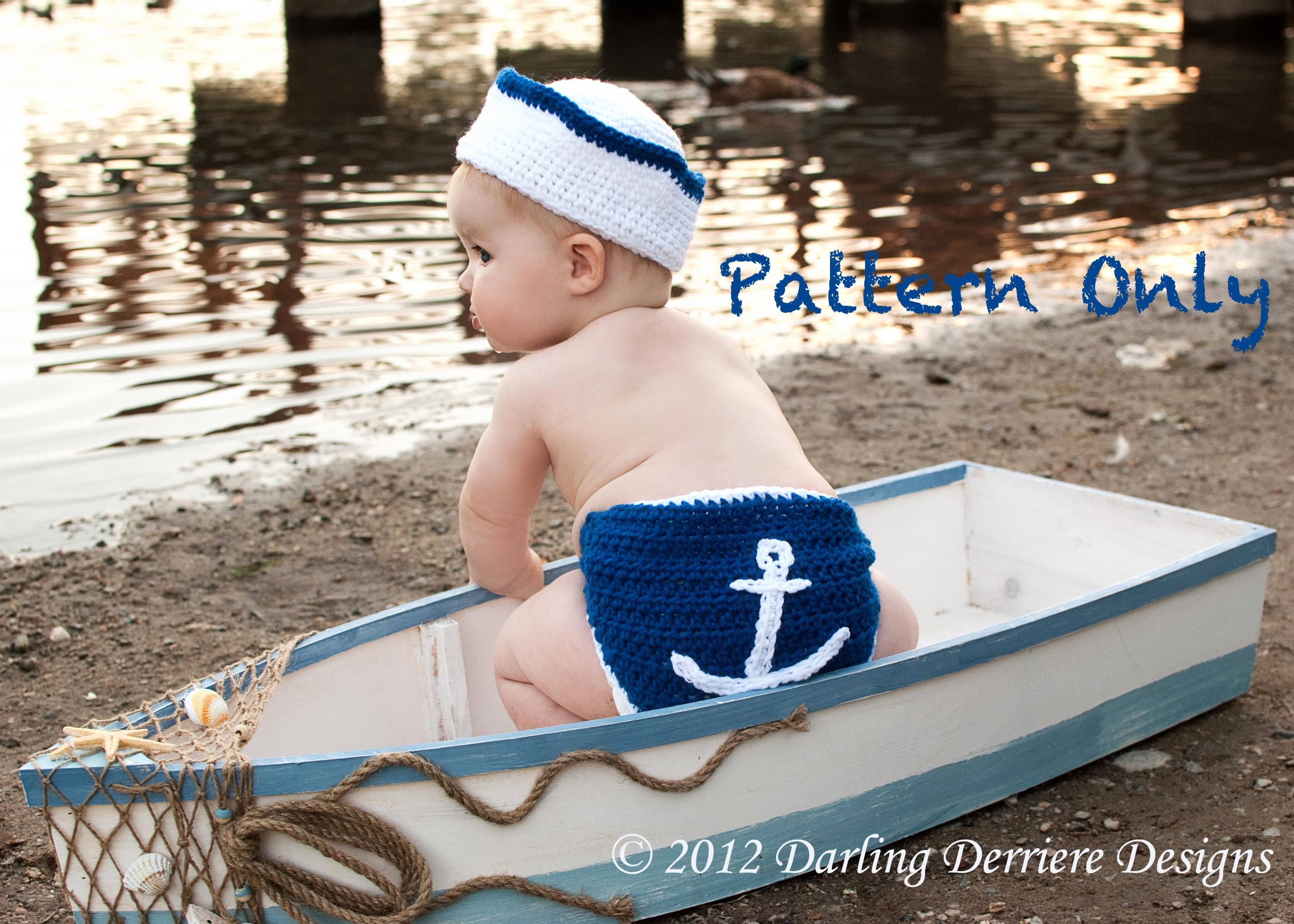 67208f5d3 Nautical Crochet Baby boy diaper cover patterns | pattern for the ...