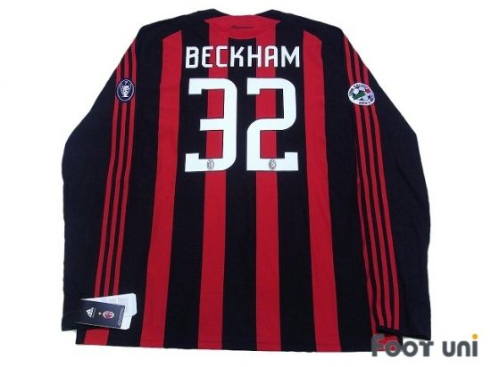 """""""AC Milan 2008-2009 Home #32 Beckham"""" Classic , old clothes , it is the net shop of vintage football shirts(Soccer Jerseys). Assortment of difficult rare item available is also abundant."""