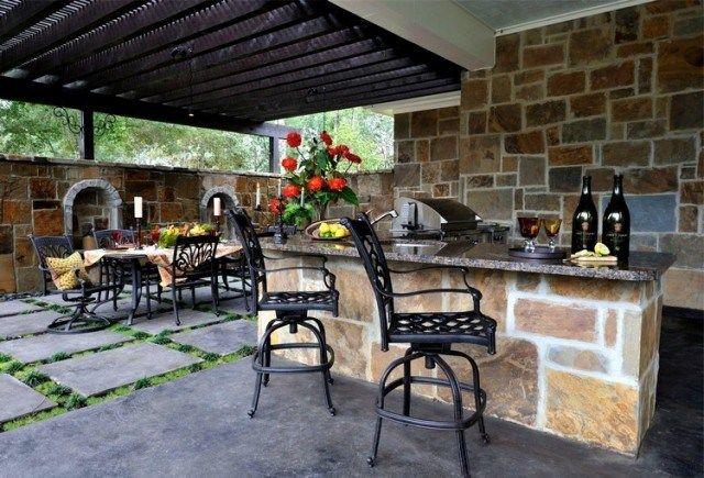 Aménagement jardin extérieur et idées déco cosy en 40 photos Deco - photo cuisine exterieure jardin