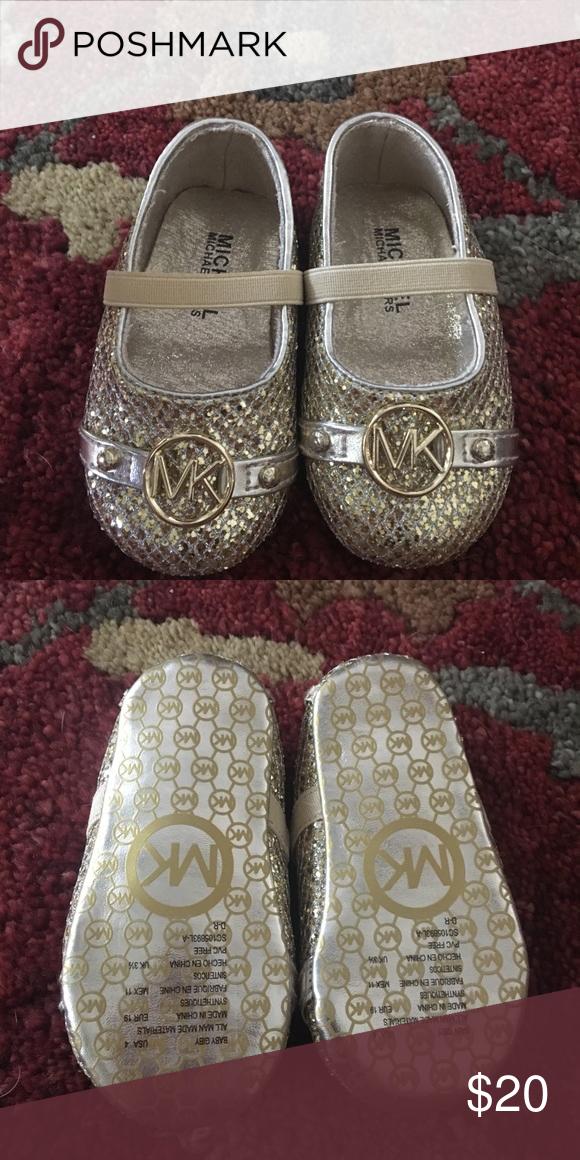 Michael Kors Size 4 Goldtone Shoes New