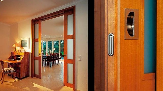 Superb Double Pocket Door, Casing With Header   B48 Modern Interior Doors
