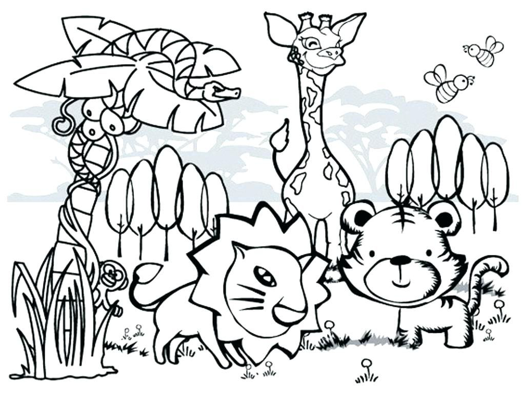 Wild Animal Coloring Pages Farm Animal Coloring Pages Zoo