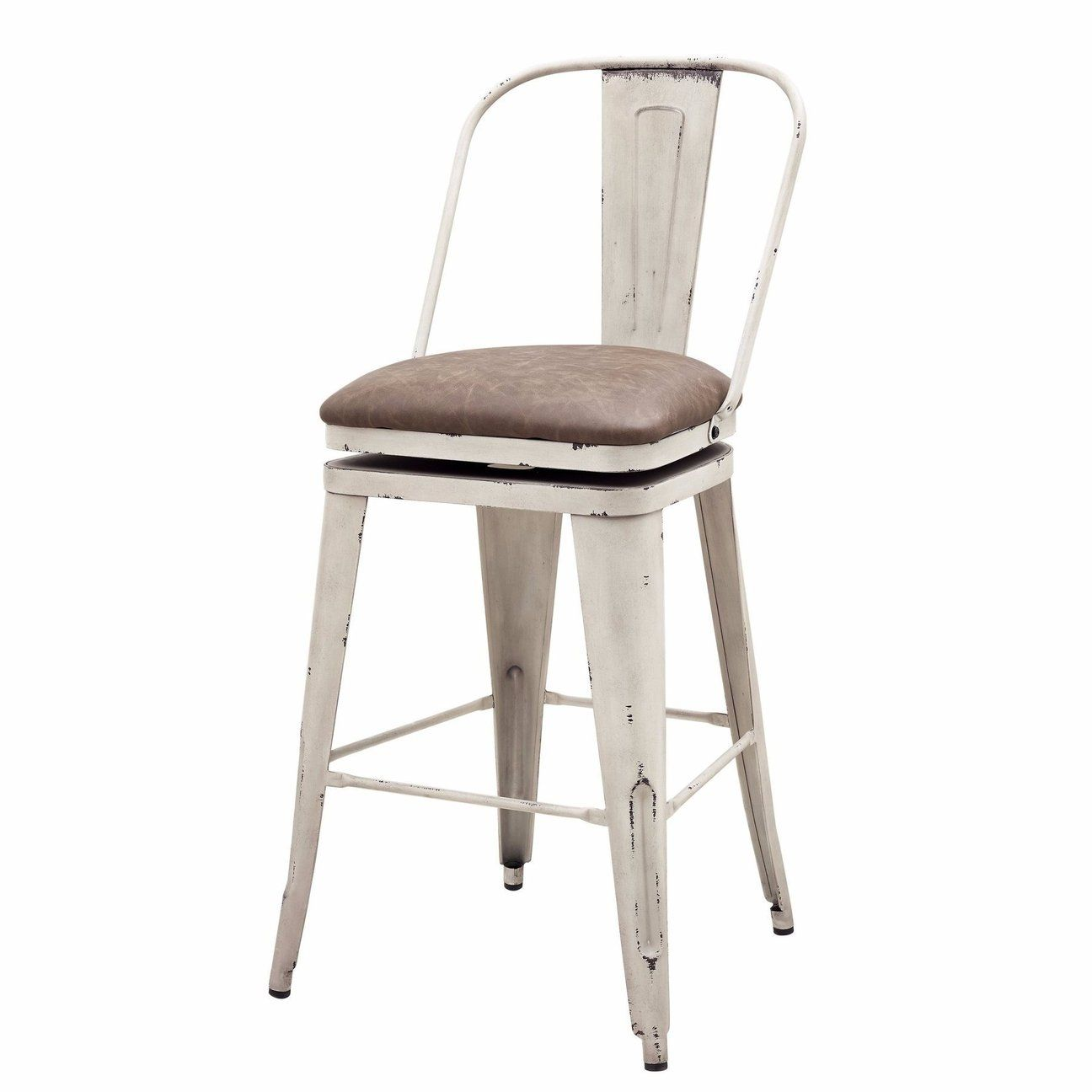 Antique White Metal Swivel Barstool Stool Parker Gwen Swivel Bar Stools Bar Stools Rustic Bar Stools