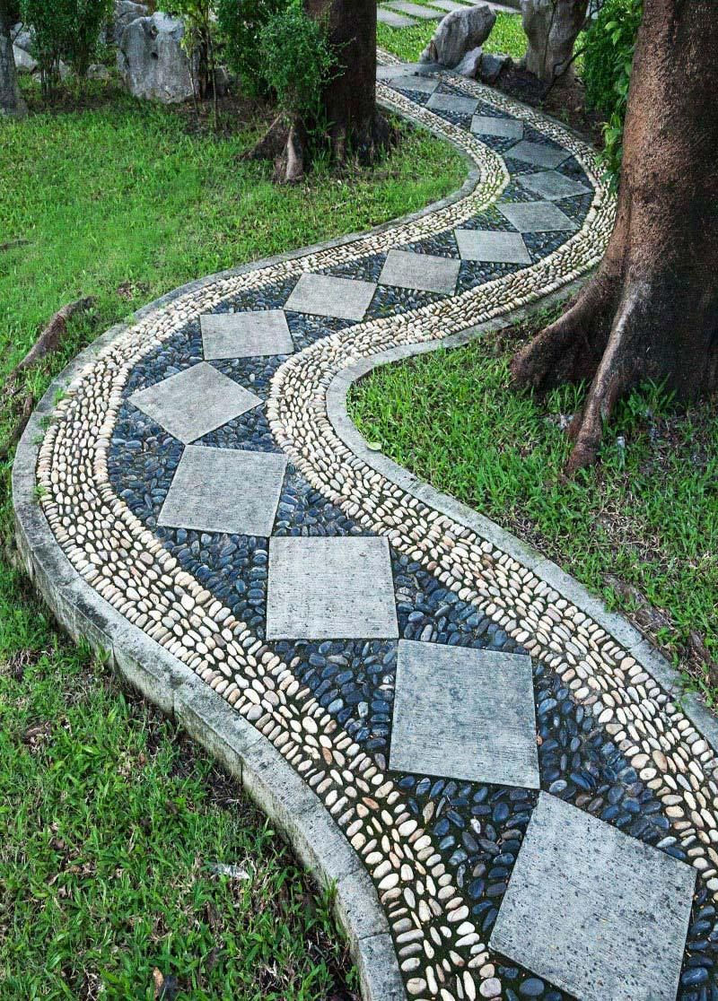 Beautiful Garden Paths Made Of Natural Stone Garden Walkway Mosaic Garden Walkways Paths