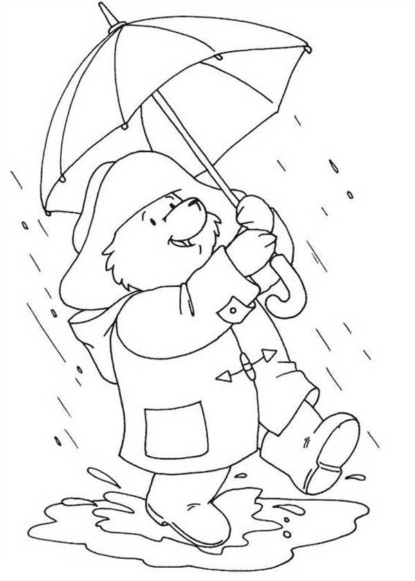 Rainy Day Coloring Sheets