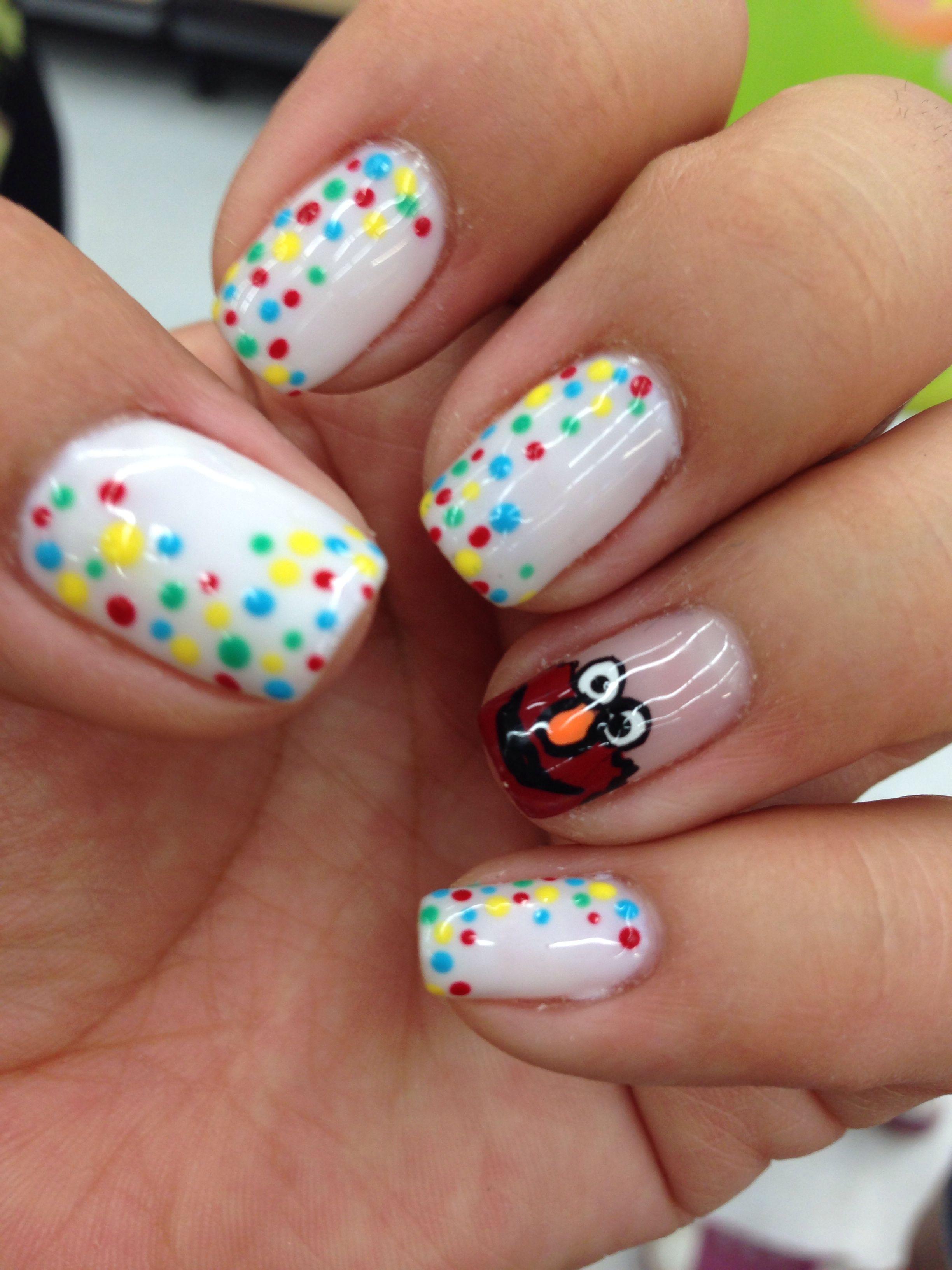 Elmo Nails Cristians 2nd Bday Pinterest Nails Nail Colors