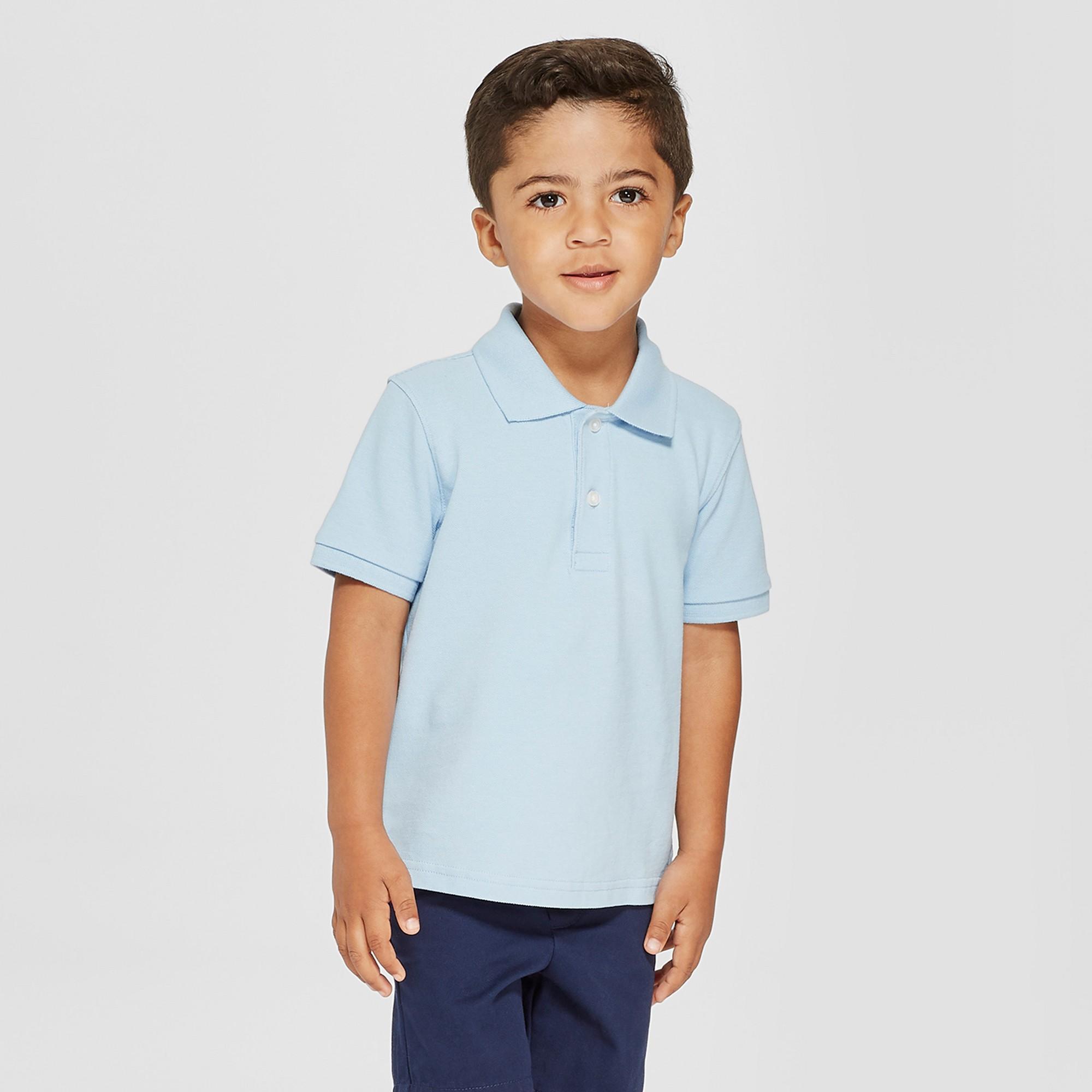 6cedc59f6 Toddler Boys' Short Sleeve Pique Uniform Polo Shirt - Cat & Jack Blue 3T