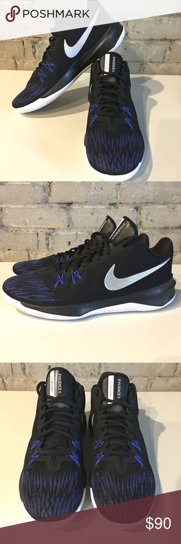36e316ddc3bfd Nike Zoom Evidence II 2 Basketball Shoes Nike Zoom Evidence II 2 Basketball  Shoes Mens Size