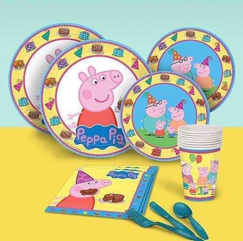 Peppa pig party ideas · Dinner Plates (8) Dessert Plates (8) - Luncheon Napkins (16  sc 1 st  Pinterest & Dinner Plates (8) Dessert Plates (8) - Luncheon Napkins (16) - 9 ...