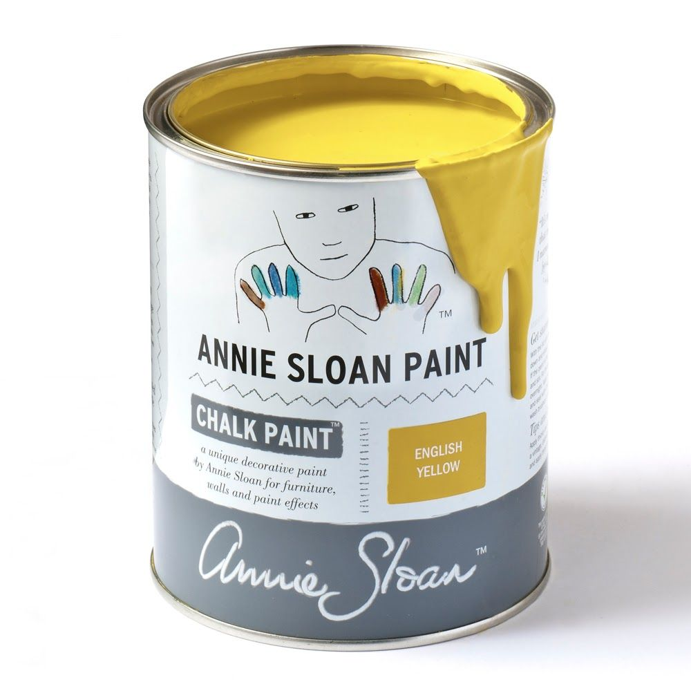 English Yellow Chalk Paint By Annie Sloan Pintura A La Tiza Pintura A La Tiza Annie Sloan Tiza