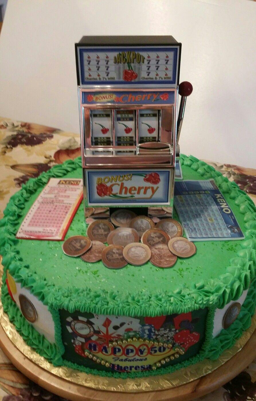 casino theme cake slot machine