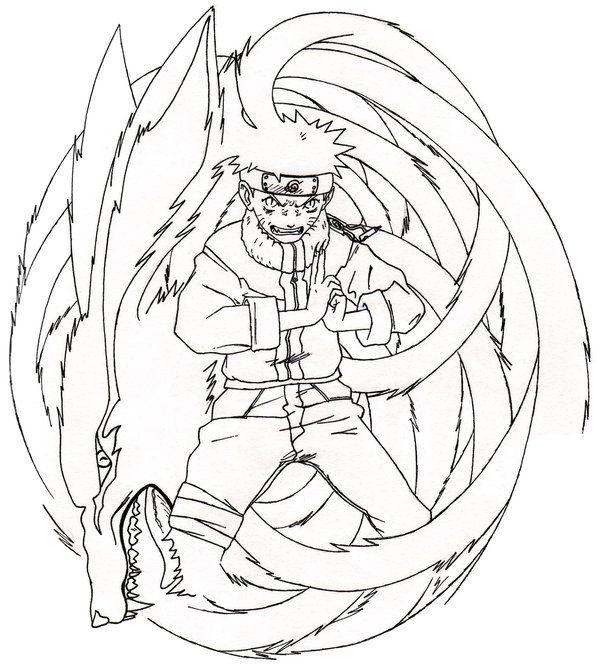 Re Naruto Nine Tailed Demon By Styrecat Deviantart Com On Deviantart Dragon Ball Super Artwork Naruto Drawings Anime Sketch