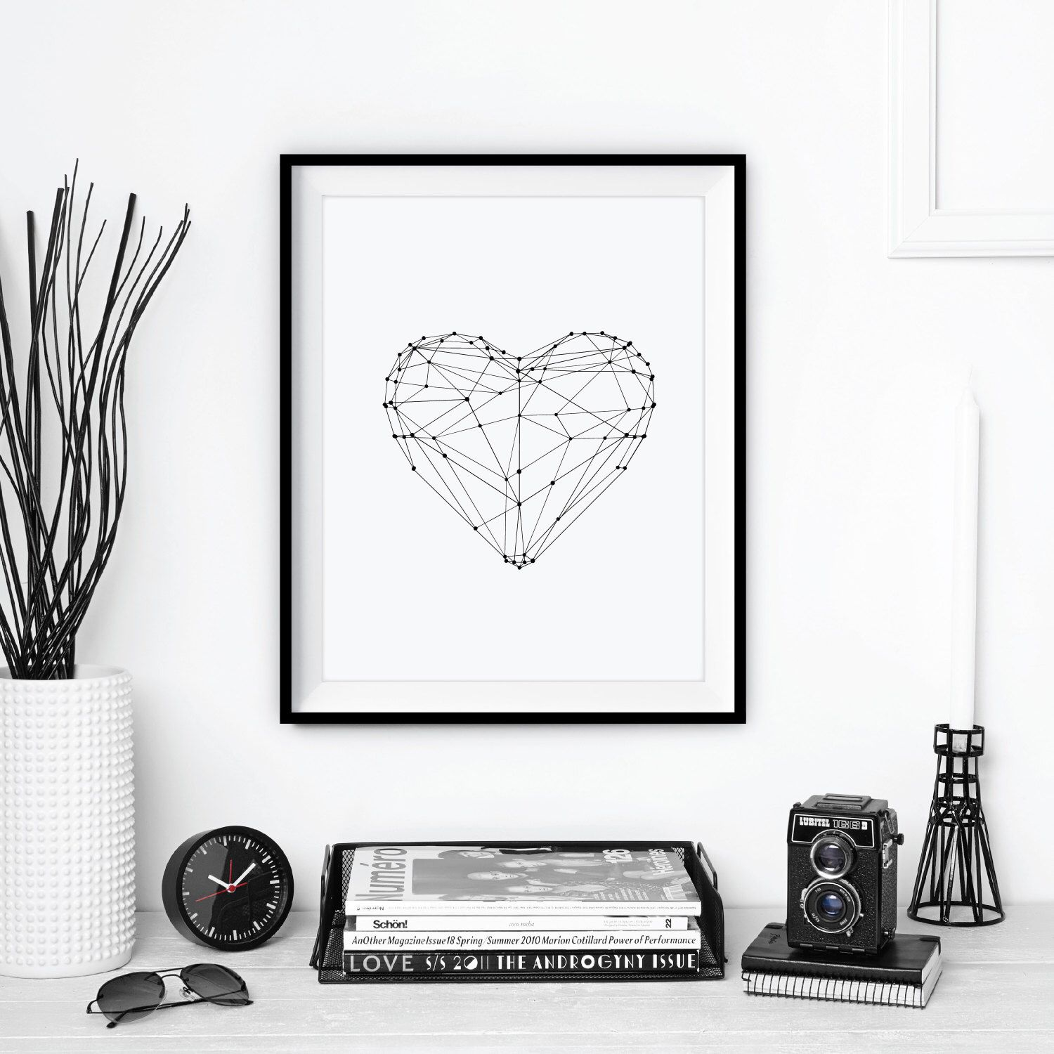 Inspirational Print Love Heart Geometric Inspirational Art Home Decor Poster Polygon Art Wall Decor Winter Gift New Year Resolution by TheMotivatedType on Etsy https://www.etsy.com/listing/198990330/inspirational-print-love-heart-geometric