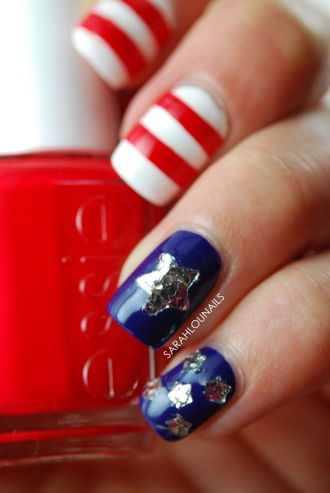 Sarah Lou Nails | :::: Nail Nail :::: | Pinterest | Streifen, Sterne ...