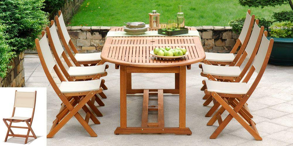 Salon De Jardin Bois Porquerolles 1 Table Ovale 190 230cm 6 Chaises Salon De Jardin Design Table De Jardin Jardin Moderne