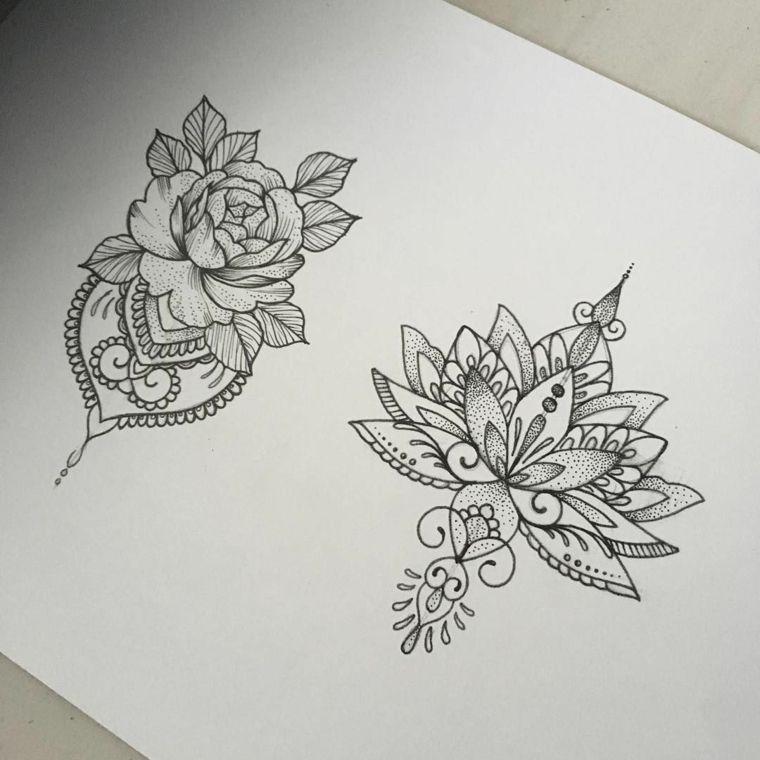 Fiori Mandala.1001 Idee Per Tatuaggi Mandala Immagini A Cui Ispirarsi