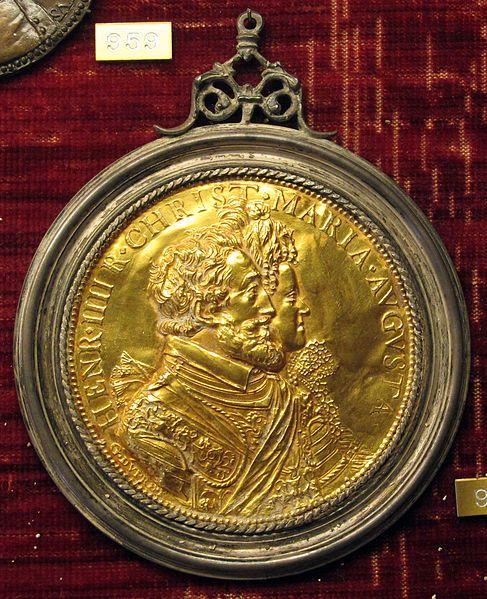 Guillaume Dupré (Sissone ca.1574-1576 - Parigi, 1640) ~ Medallion di enrico IV e maria de' medici, 1603, oro ~ Museo Nazionale del Bargello, Firenze