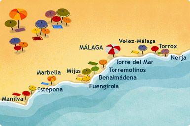 Costa Del Sol Localizacion Andalousie Malaga Espagne