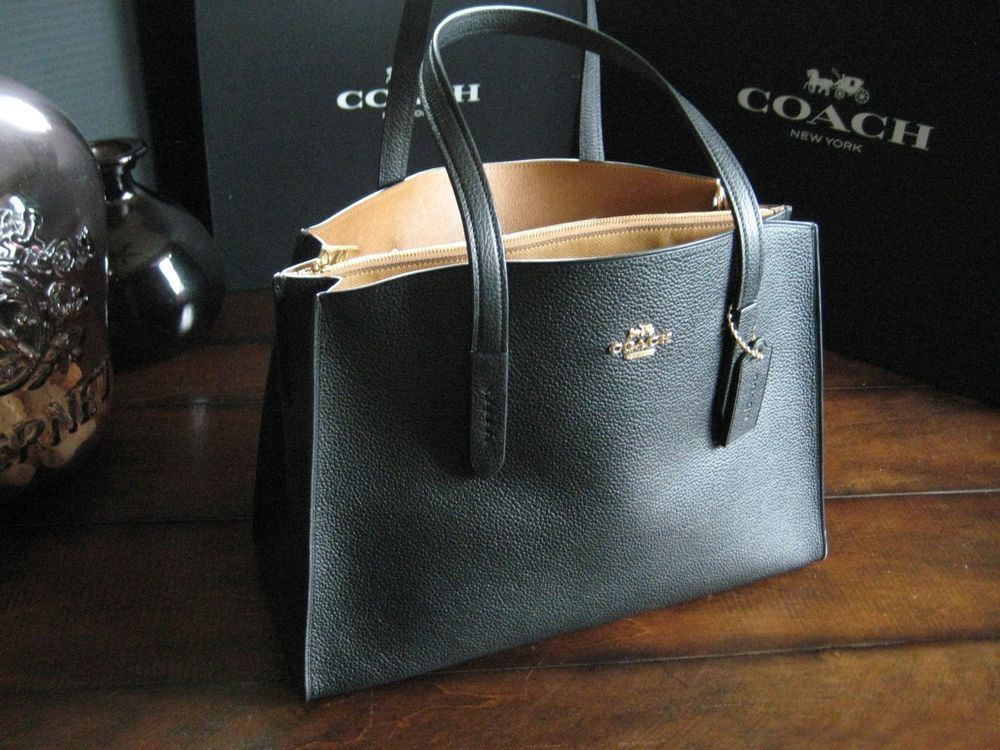 581f05f71c Coach Charlie Carryall Black Leather Tote Business Bag #25137 MSRP ...