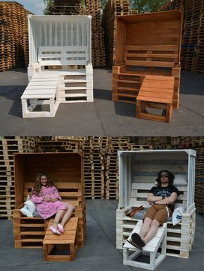 berdachter strandkorb aus paletten f r den garten holz pinterest strandkorb aus. Black Bedroom Furniture Sets. Home Design Ideas