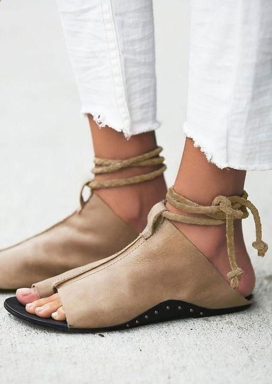 185058b2c6e48 Women s Sandals -  womenssandals - Summer Ankle Wrap Flat Sandals  Birkenstock Gizeh Sandals Thong Sandal Adjustable Strap Women Men shoes  EUR34-44.