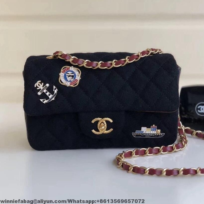 fa423467804c Chanel Wool with Charms Classic Mini Flap Bag A69900 2018   Chanel ...