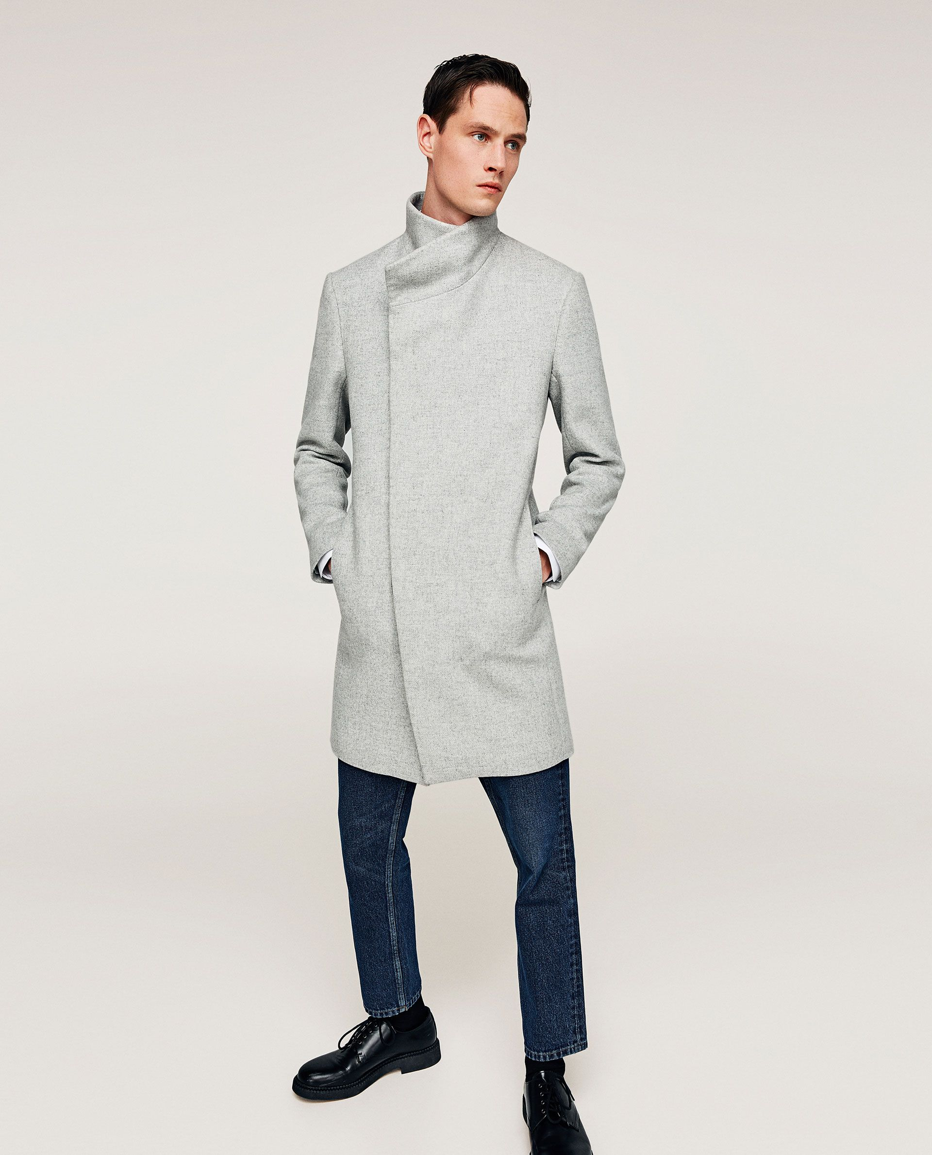 29ed7116 Image 4 of LIGHT GREY COAT from Zara | MENS FASHION | Grey, Coat y Parka