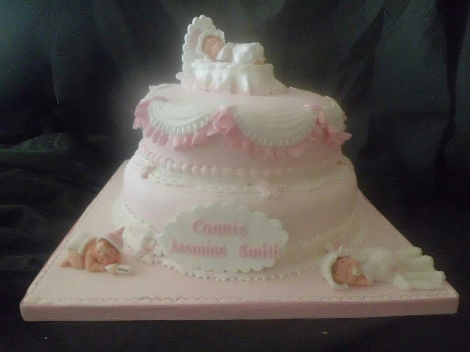 Girls Christening / Naming Cake