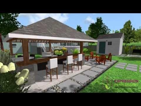 expression plan design plan d 39 am nagement ext rieur youtube terrasse plan exterieur. Black Bedroom Furniture Sets. Home Design Ideas
