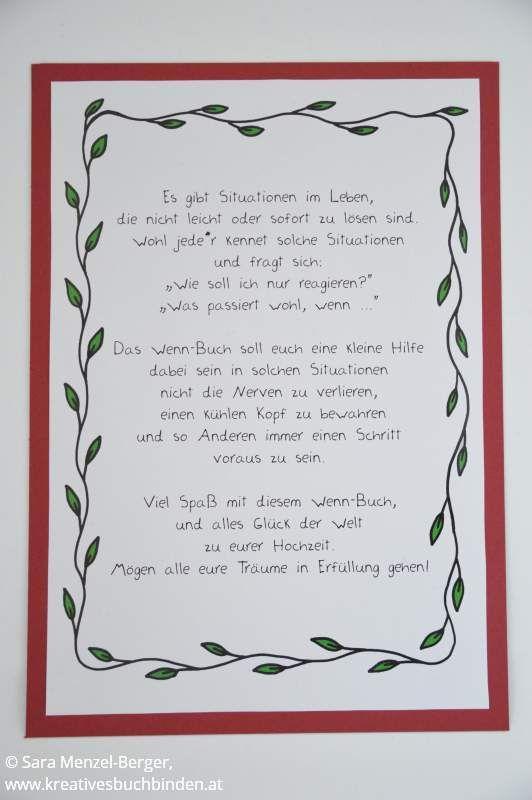 Einleitung Für Das Wenn Buch Zur Hochzeit ... Wenn Buch Als Geschenk