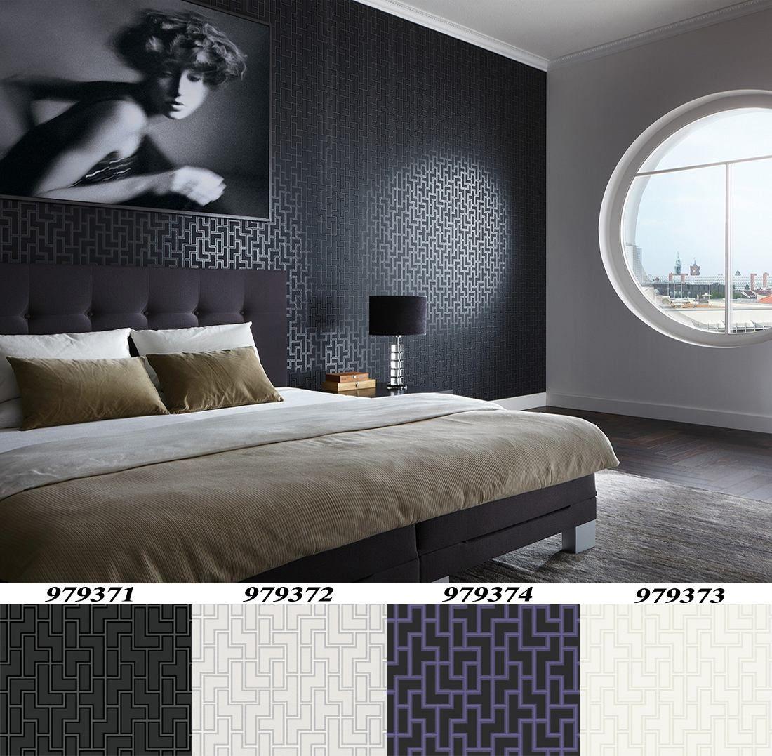Tapiz Decorativo Importado Metropolis Con Textura Wallpapper Decoracion De Unas Diseno De Cama Decoracion De Interiores