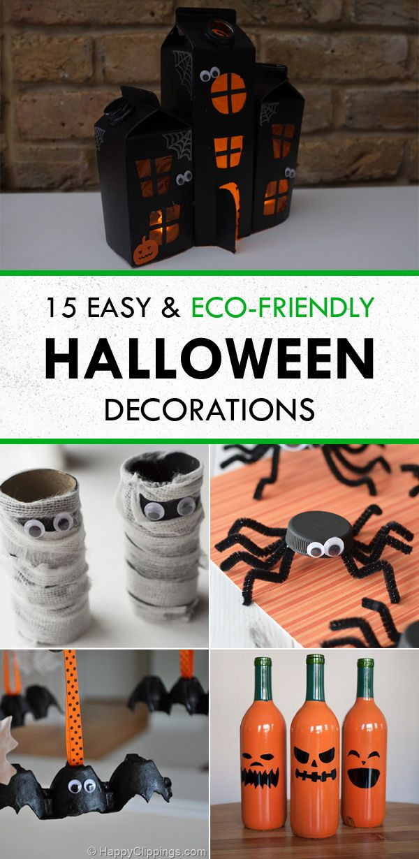 15 Easy  Eco-Friendly DIY Halloween Decorations Dia de muertos y - halloween decorations to make on your own