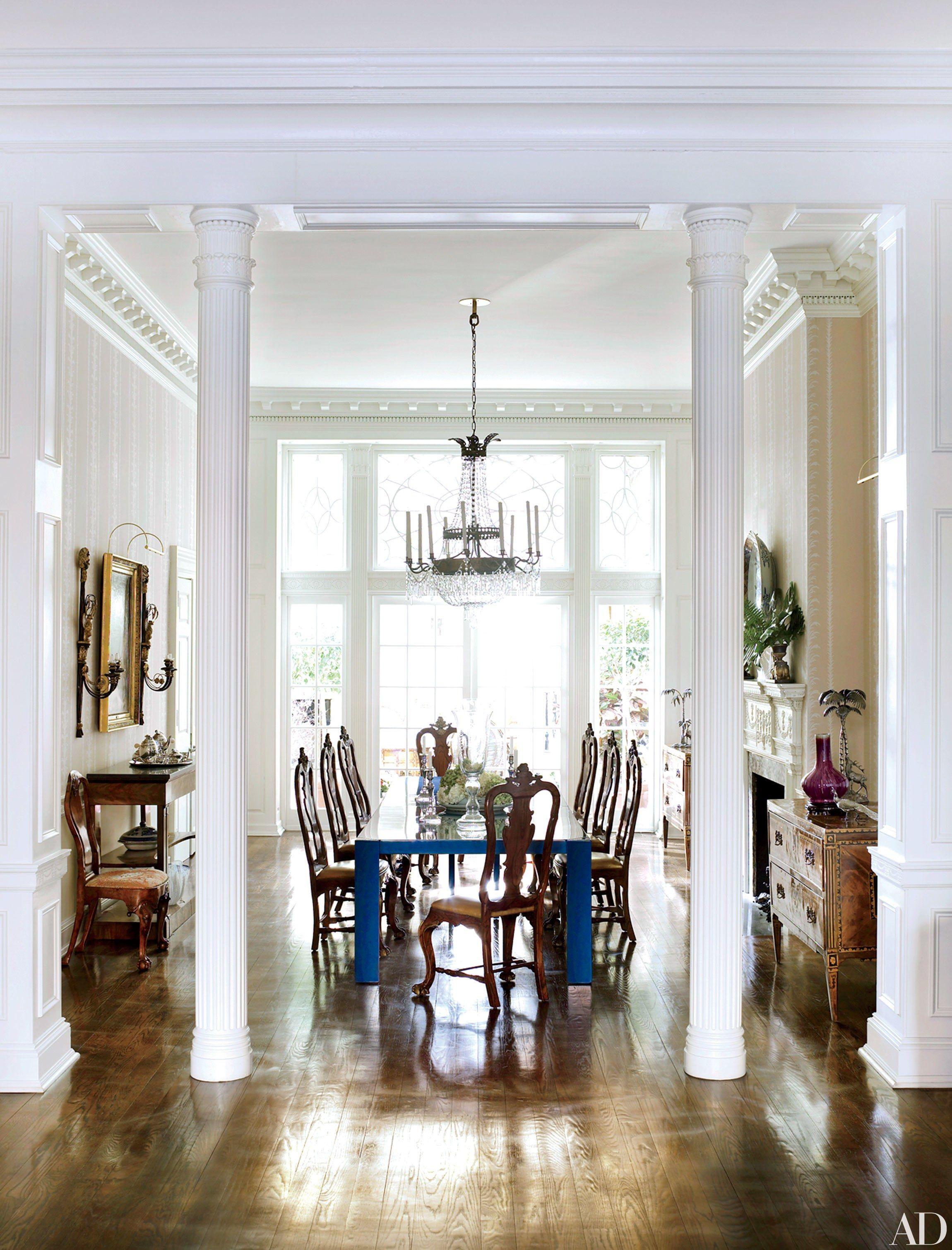8 Homes With Grand Interior Columns  Interior Columns Prepossessing Dining Room Empire Design Ideas