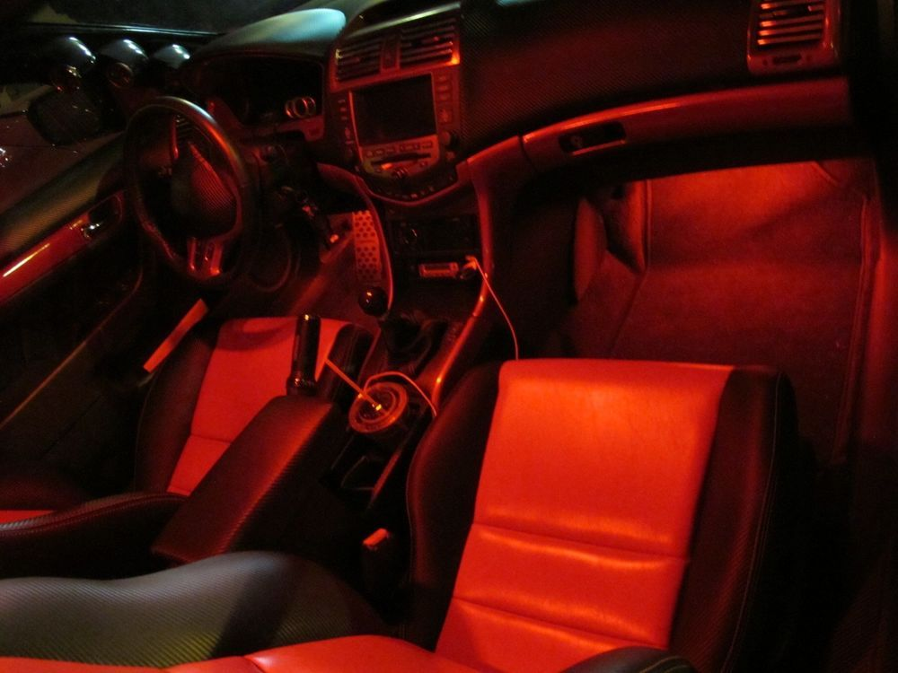 Red Led Interior Package For 2013 2014 2015 Honda Accord